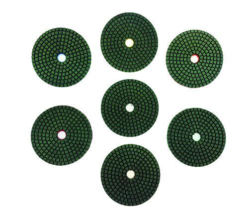 Polishing pads (wet) 8er Set Ø 100mm thickness 3,5mm