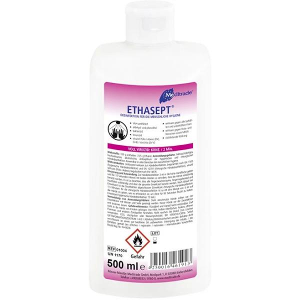Meditrade Ethasept® Händedesinfektionsmittel - 500 ml Flasche