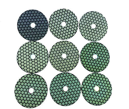 Dry polishing pads 8er Set Ø125mm thickness 3,5mm